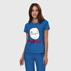 Пижама хлопковая женская Poker Face цвета синий — фото 2