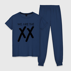 Пижама хлопковая женская We are the XX цвета тёмно-синий — фото 1