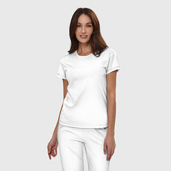Пижама хлопковая женская KOTD цвета белый — фото 2