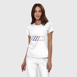 Пижама хлопковая женская BMW Motor Contur цвета белый — фото 2