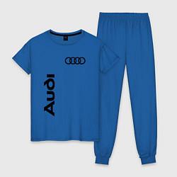 Пижама хлопковая женская Audi Style цвета синий — фото 1