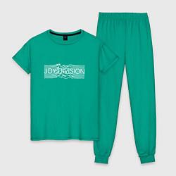 Пижама хлопковая женская Joy Division цвета зеленый — фото 1