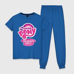Пижама хлопковая женская Frendship is magic цвета синий — фото 1