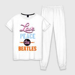 Женская пижама Love peace the Beatles
