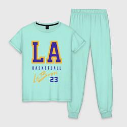 Пижама хлопковая женская Lebron 23: Los Angeles цвета мятный — фото 1