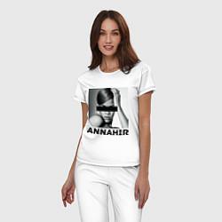 Пижама хлопковая женская Rihanna цвета белый — фото 2
