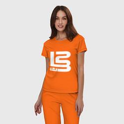 Пижама хлопковая женская Lebron James цвета оранжевый — фото 2