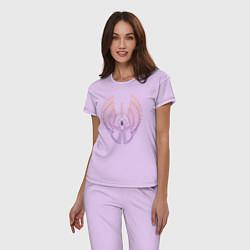 Пижама хлопковая женская Might & Magic цвета лаванда — фото 2
