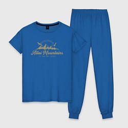 Пижама хлопковая женская Алтай Gold Classic цвета синий — фото 1