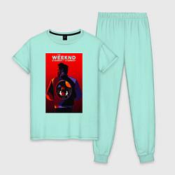Пижама хлопковая женская The Weekend цвета мятный — фото 1
