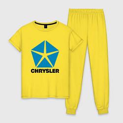 Пижама хлопковая женская Chrysler цвета желтый — фото 1