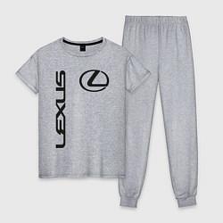 Пижама хлопковая женская LEXUS цвета меланж — фото 1
