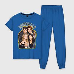 Пижама хлопковая женская Riverdale heroes цвета синий — фото 1