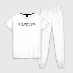 Пижама хлопковая женская Supernatural Angel Wings цвета белый — фото 1