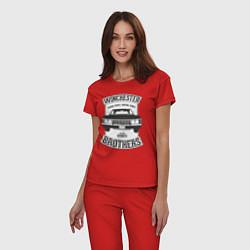 Пижама хлопковая женская Impala Winchesters цвета красный — фото 2