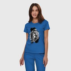 Пижама хлопковая женская The Punisher цвета синий — фото 2
