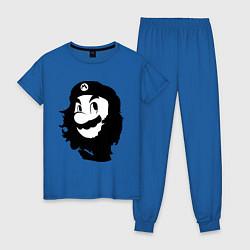 Пижама хлопковая женская Che Mario цвета синий — фото 1