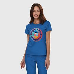 Пижама хлопковая женская Duck Vision цвета синий — фото 2