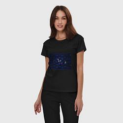 Пижама хлопковая женская Pacman цвета черный — фото 2