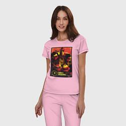 Пижама хлопковая женская The Incredibles цвета светло-розовый — фото 2