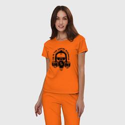 Пижама хлопковая женская Breaking Bad цвета оранжевый — фото 2