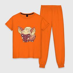 Пижама хлопковая женская Dont Starve цвета оранжевый — фото 1