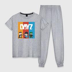 Пижама хлопковая женская DayZ ДэйЗи цвета меланж — фото 1