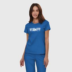 Пижама хлопковая женская Escape from Tarkov Bear спина Z цвета синий — фото 2