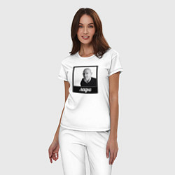 Пижама хлопковая женская Ладно цвета белый — фото 2