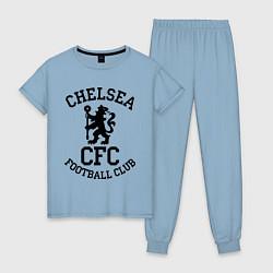 Пижама хлопковая женская Chelsea CFC цвета мягкое небо — фото 1