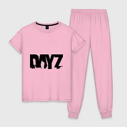 Пижама хлопковая женская DayZ цвета светло-розовый — фото 1