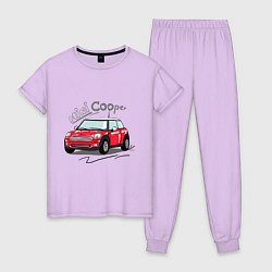 Пижама хлопковая женская Mini Cooper цвета лаванда — фото 1