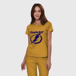 Пижама хлопковая женская HC Tampa Bay цвета горчичный — фото 2
