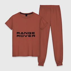 Пижама хлопковая женская Range Rover цвета кирпичный — фото 1