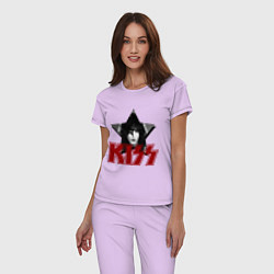 Пижама хлопковая женская Kiss Star цвета лаванда — фото 2