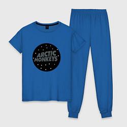 Пижама хлопковая женская Arctic Monkeys: Black цвета синий — фото 1