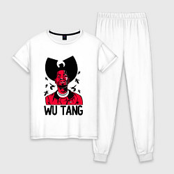 Пижама хлопковая женская Wu-Tang Insects цвета белый — фото 1