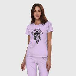 Пижама хлопковая женская Motorhead Rocker цвета лаванда — фото 2