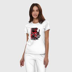 Пижама хлопковая женская New Jersey Devils цвета белый — фото 2