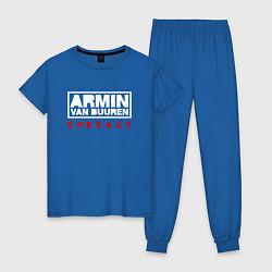 Пижама хлопковая женская Armin van Buuren: Embrace цвета синий — фото 1