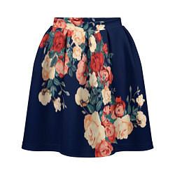 Женская юбка Fashion flowers