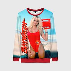 Свитшот женский Baywatch: Pamela Anderson цвета 3D-красный — фото 1