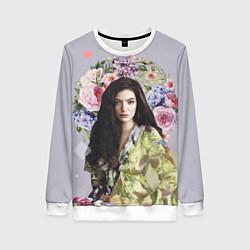 Свитшот женский Lorde Floral цвета 3D-белый — фото 1