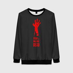 Свитшот женский Fear the Walking Dead цвета 3D-черный — фото 1
