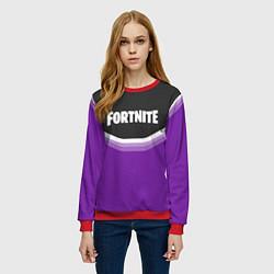Свитшот женский Fortnite Violet цвета 3D-красный — фото 2