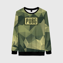 Свитшот женский PUBG: Khaki Polygons цвета 3D-черный — фото 1