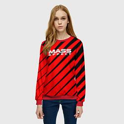 Свитшот женский Mass Effect: Red Style цвета 3D-красный — фото 2