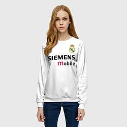 Свитшот женский FC Real Madrid: Beckham Retro цвета 3D-белый — фото 2