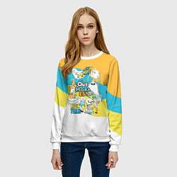 Свитшот женский Adventure Time цвета 3D-белый — фото 2