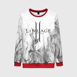 Свитшот женский LINEAGE 2 цвета 3D-красный — фото 1